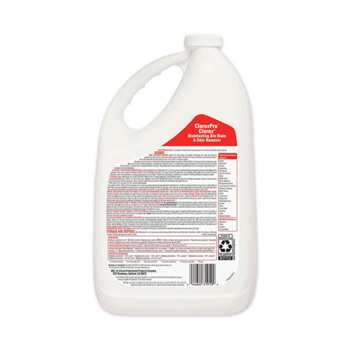 Clorox Disinfecting Bio Stain and Odor Remover  Fragranced  128 oz Refill Bottle (CLO31910EA)