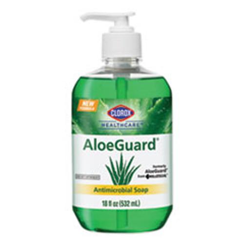 Clorox Healthcare AloeGuardA   Antimicrobial Soap  Aloe Scent  18 oz Pump Bottle  12 Carton (CLO32378)