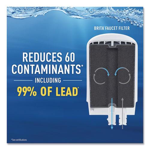 Brita On Tap Faucet Water Filter System  White  4 Carton (CLO42201CT)