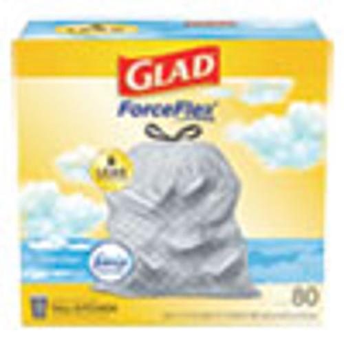 Glad OdorShield Tall Kitchen Drawstring Bags  13 gal  0 95 mil  24  x 27 38   White  80 Box (CLO78899BX)