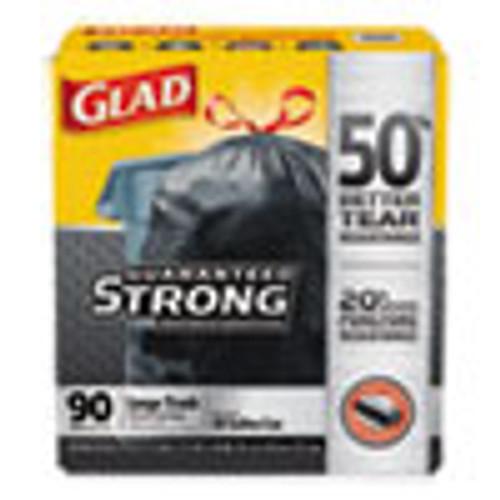 Glad Drawstring Large Trash Bags  30 gal  1 05 mil  30  x 33   Black  90 Carton (CLO78952)