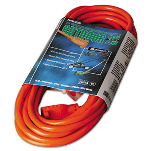 CCI Vinyl Outdoor Extension Cord  25ft  13 Amp  Orange (COC02307)