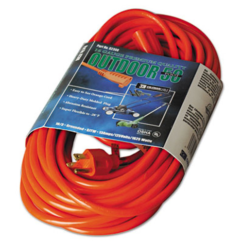 CCI Vinyl Outdoor Extension Cord  50ft  13 Amp  Orange (COC02308)