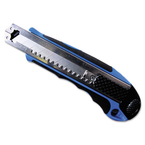 COSCO Heavy-Duty Snap Blade Utility Knife  Four 8-Point Blades  Retractable  Blue (COS091514)