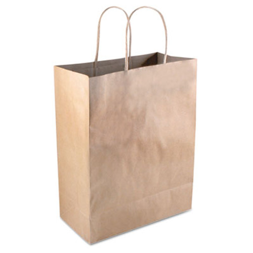 COSCO Premium Shopping Bag  8  x 10 25   Brown Kraft  50 Box (COS098375)