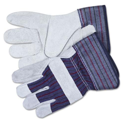 MCR Safety Split Leather Palm Gloves  X-Large  Gray  Pair (CRW12010XL)