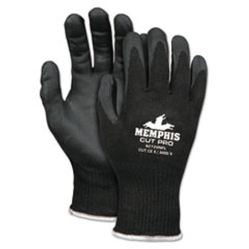 MCR Safety Cut Pro 92720NF Gloves  Large  Black  HPPE Nitrile Foam (CRW92720NFL)