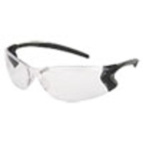 MCR Safety Backdraft Glasses  Clear Frame  Hard Coat Clear Lens (CRWBD110P)