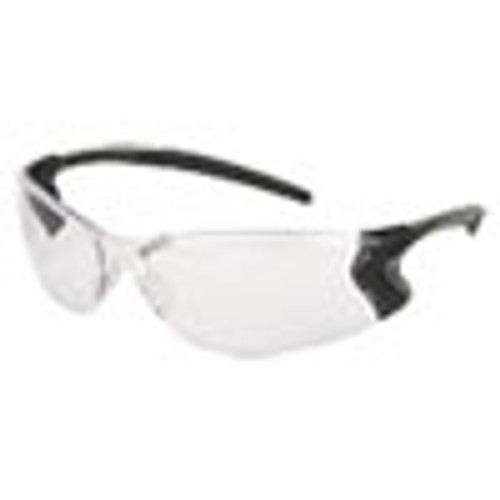 MCR Safety Backdraft Glasses  Clear Frame  Anti-Fog Clear Lens (CRWBD110PF)