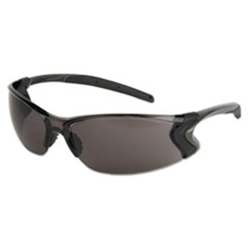 MCR Safety Backdraft Glasses  Clear Frame  Hard Coat Gray Lens (CRWBD112P)