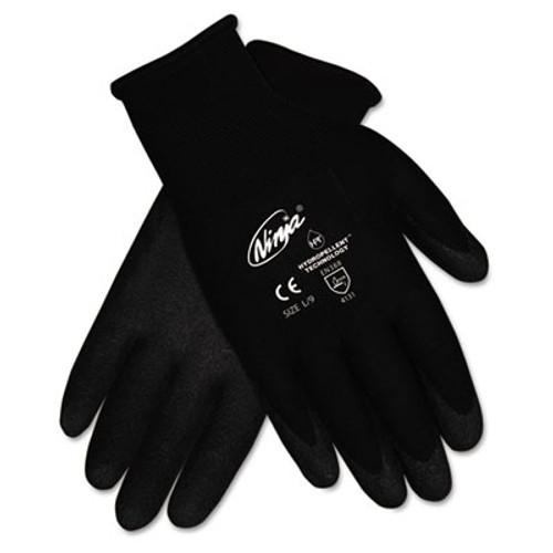 MCR Safety Ninja HPT PVC coated Nylon Gloves  Small  Black  Pair (CRWN9699S)