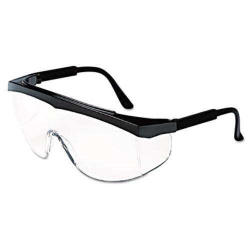 MCR Safety Stratos Safety Glasses  Black Frame  Clear Lens (CRWSS110)