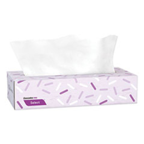 Cascades PRO Select Flat Box Facial Tissue  2-Ply  White  100 Sheets Box  30 Boxes Carton (CSDF950)