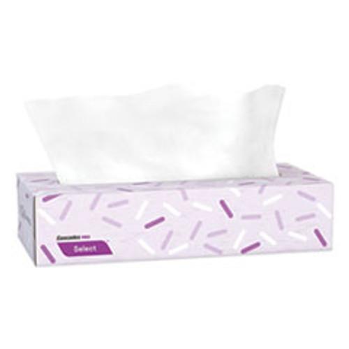 Cascades PRO Select Flat Box Facial Tissue  2-Ply  White  100 Sheets Box  30 Boxes Carton (CSDF950)
