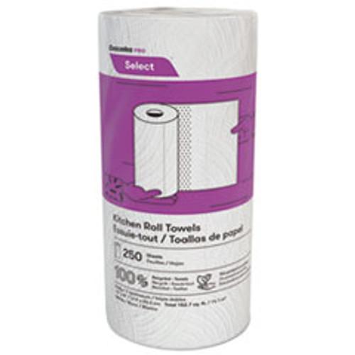 Cascades PRO Select Kitchen Roll Towels  2-Ply  8 x 11  250 Roll  12 Carton (CSDK250)