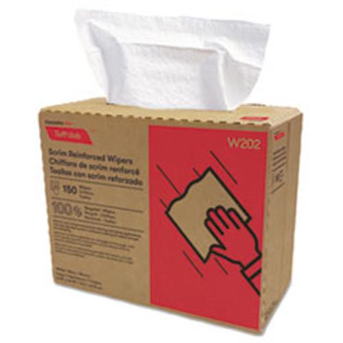 Cascades PRO Tuff-Job Scrim Reinforced Wipers  9 3 4 x 16 3 4  White  150 Box  6 Box Carton (CSDW202)