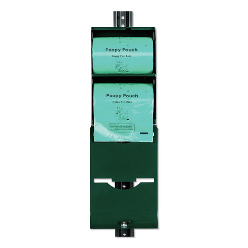 Poopy Pouch Imperial Pet Waste Bag Dispenser  Holds 800 Poopy Pouch Tie Handle Pet Waste Bags  Hunter Green (CWDPPDSP2R400)