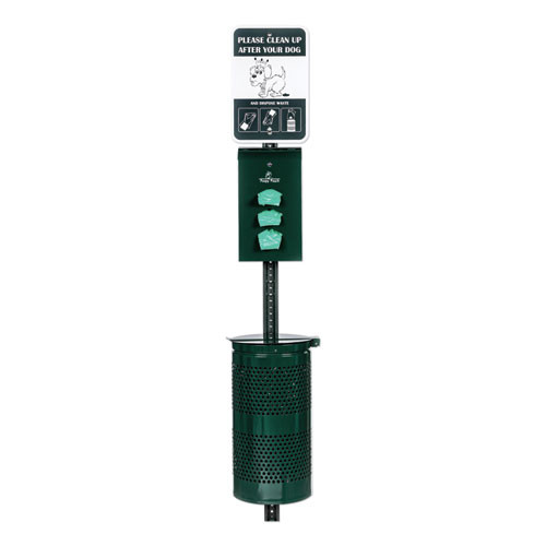 Poopy Pouch Monarch Pet Waste Station  12 x 14 x 96  Hunter Green (CWDPPSD013R200)