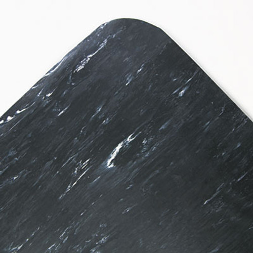 Crown Cushion-Step Surface Mat  36 x 60  Spiffy Vinyl  Black (CWNCU3660SB)