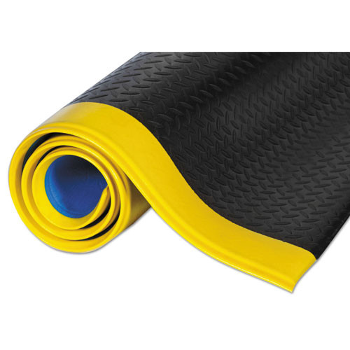 Crown Wear-Bond Comfort-King Anti-Fatigue Mat  Diamond Emboss  24 x 36  Black Yellow (CWNWBZ023YD)