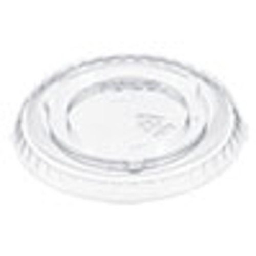 Dart Plastic Cold Cup Lid for 5 oz Cup  No Hole  Clear  2500 Carton (DCC605TP)