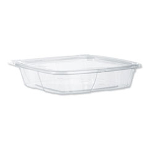 Dart SafeSeal Tamper-Resistant  Tamper-Evident Deli Containers with Flat Lid  35 oz  Clear  200 Carton (DCCCH35DEF)