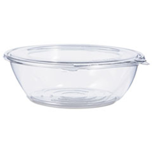 Dart Tamper-Resistant  Tamper-Evident Bowls with Flat Lid  48 oz  Clear  100 Carton (DCCCTR48BF)