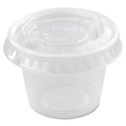 Dart Portion Souffl    Cup Lids  Fits  5-1oz Cups  Clear  2500 Carton (DCCPL100N)