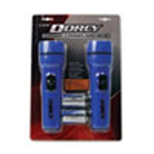 DORCY LED Flashlight Pack  1 D Battery  Included   Blue  2 Pack (DCY412594)