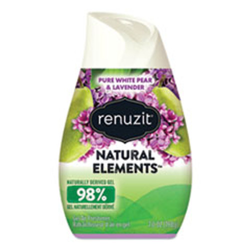 Renuzit Adjustables Air Freshener  Pure White Pear and Lavender  7 oz Cone  12 Carton (DIA05362CT)