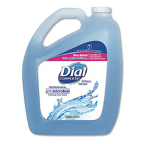 Dial Professional Antimicrobial Foaming Hand Wash  Spring Water  1 gal Bottle  4 Carton (DIA15922)