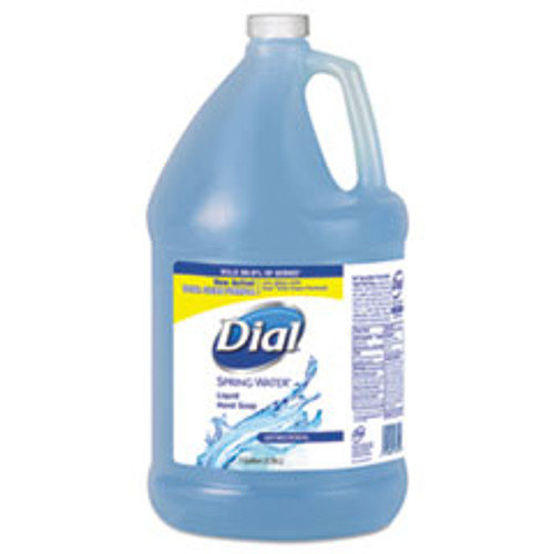 Dial Antimicrobial Liquid Hand Soap  Spring Water Scent  1 gal Bottle  4 Carton (DIA15926)