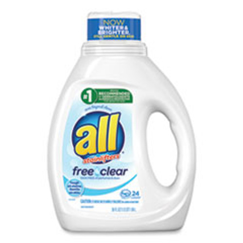 All Ultra Free Clear Liquid Detergent  Unscented  36 oz Bottle  6 Carton (DIA73943)