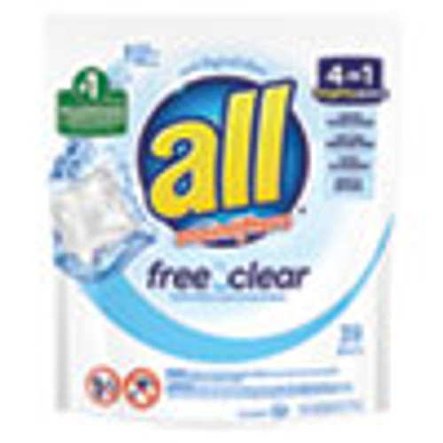 All Mighty Pacs Free and Clear Super Concentrated Laundry Detergent  39 Pack (DIA73978EA)