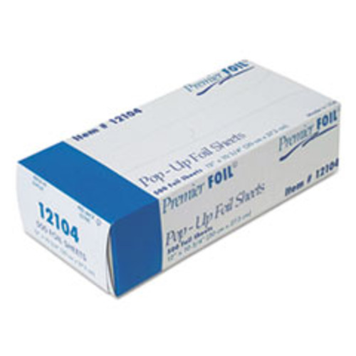 Durable Packaging Premier Pop-Up Aluminum Foil Sheets  12  x 10 3 4   500 Box  6 Boxes Carton (DPK12104)