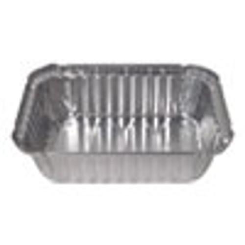 Durable Packaging Aluminum Closeable Containers  1 5 lb Deep Oblong  500 Carton (DPK24530500)