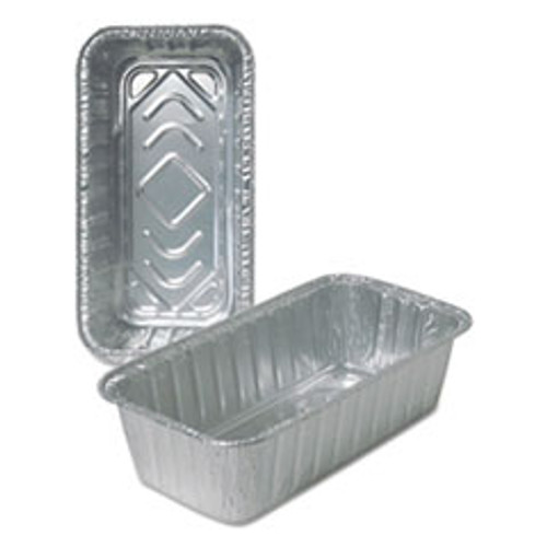 Durable Packaging Aluminum Loaf Pans  2 lb  500 Carton (DPK510035)