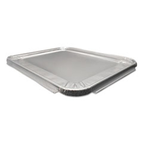 Durable Packaging Aluminum Steam Table Lids for Heavy-Duty Half Size Pan  100  Carton (DPK8200100)