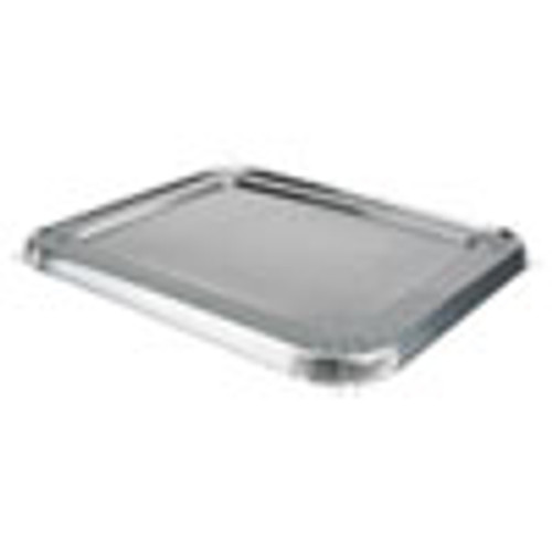 Durable Packaging Aluminum Steam Table Lids for Rolled Edge Half Size Pan  100  Carton (DPK8200CRL)