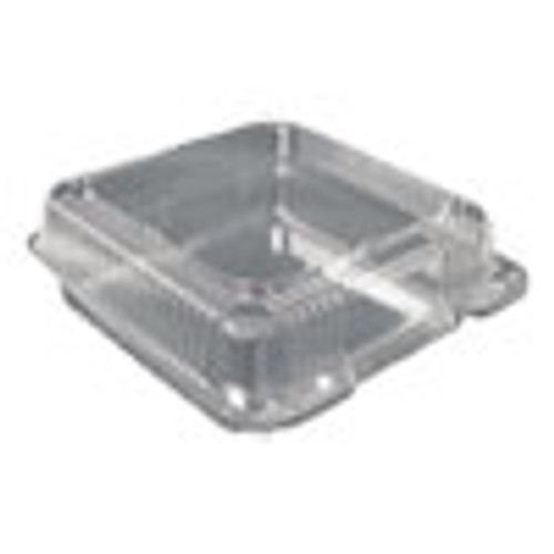 Durable Packaging Plastic Clear Hinged Containers  9 x 9  Clear  200 Carton (DPKPXT900)