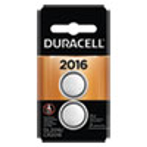 Duracell Lithium Coin Battery  2016  2 Pack (DURDL2016B2PK)