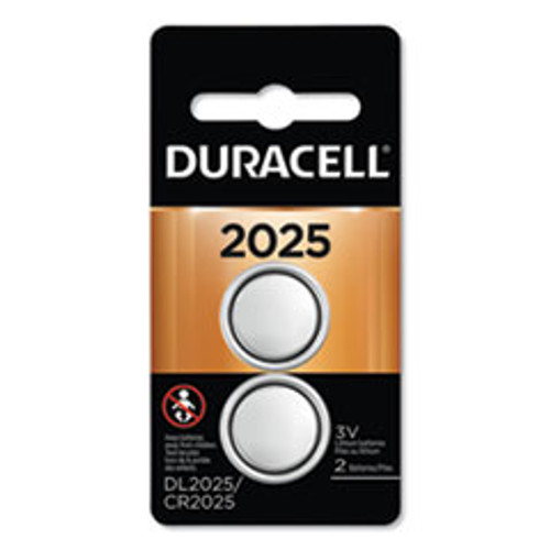 Duracell Lithium Coin Battery  2025  2 Pack (DURDL2025B2PK)