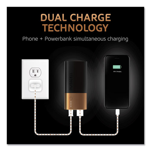 Duracell Rechargeable 6700 mAh Powerbank  2 Day Portable Charger (DURDMLIONPB2)