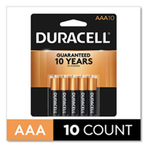 Duracell CopperTop Alkaline AAA Batteries  10 Pack (DURMN2400B10Z)