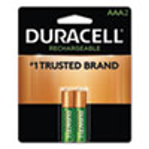 Duracell Rechargeable StayCharged NiMH Batteries  AAA  2 Pack (DURNLAAA2BCD)