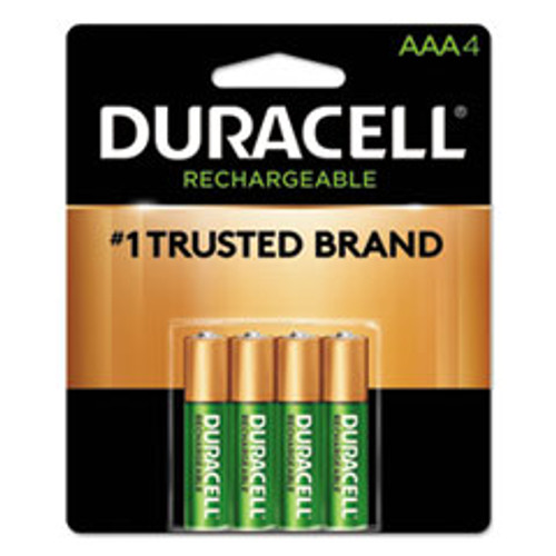 Duracell Rechargeable StayCharged NiMH Batteries  AAA  4 Pack (DURNLAAA4BCD)