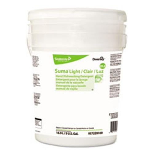 Diversey Suma Light D1 2 Hand Dishwashing Detergent  Liquid  Citrus  5 gal Pail (DVO957229100)