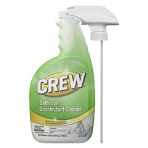 Diversey Crew Bathroom Disinfectant Cleaner  Floral Scent  32 oz Spray Bottle  4 CT (DVOCBD540199)