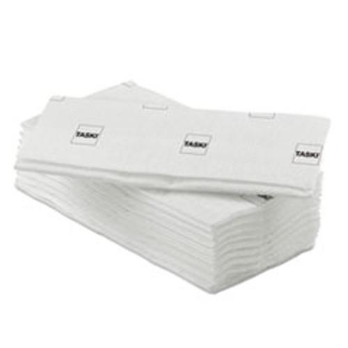 Diversey Taskisum Disposable Microfiber Mop  17 7  x 4 9  Head  White  25 Pack (DVOD7523512)