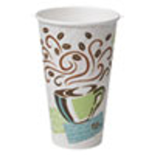 Dixie PerfecTouch Paper Hot Cups  16 oz  Coffee Dreams Design  50 Pack (DXE5356CD)
